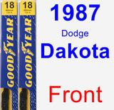 Front Wiper Blade Pack for 1987 Dodge Dakota - Premium