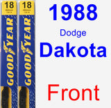 Front Wiper Blade Pack for 1988 Dodge Dakota - Premium