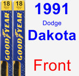 Front Wiper Blade Pack for 1991 Dodge Dakota - Premium