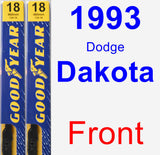 Front Wiper Blade Pack for 1993 Dodge Dakota - Premium