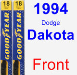 Front Wiper Blade Pack for 1994 Dodge Dakota - Premium