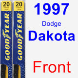 Front Wiper Blade Pack for 1997 Dodge Dakota - Premium