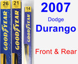 Front & Rear Wiper Blade Pack for 2007 Dodge Durango - Premium