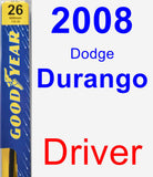 Driver Wiper Blade for 2008 Dodge Durango - Premium