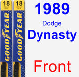 Front Wiper Blade Pack for 1989 Dodge Dynasty - Premium