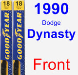 Front Wiper Blade Pack for 1990 Dodge Dynasty - Premium