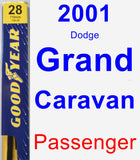 Passenger Wiper Blade for 2001 Dodge Grand Caravan - Premium