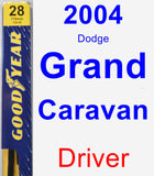 Driver Wiper Blade for 2004 Dodge Grand Caravan - Premium