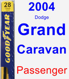 Passenger Wiper Blade for 2004 Dodge Grand Caravan - Premium