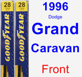Front Wiper Blade Pack for 1996 Dodge Grand Caravan - Premium