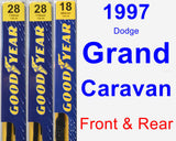 Front & Rear Wiper Blade Pack for 1997 Dodge Grand Caravan - Premium