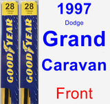 Front Wiper Blade Pack for 1997 Dodge Grand Caravan - Premium