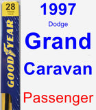 Passenger Wiper Blade for 1997 Dodge Grand Caravan - Premium