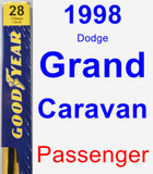 Passenger Wiper Blade for 1998 Dodge Grand Caravan - Premium