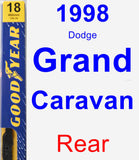 Rear Wiper Blade for 1998 Dodge Grand Caravan - Premium