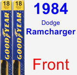 Front Wiper Blade Pack for 1984 Dodge Ramcharger - Premium