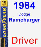 Driver Wiper Blade for 1984 Dodge Ramcharger - Premium