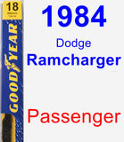 Passenger Wiper Blade for 1984 Dodge Ramcharger - Premium