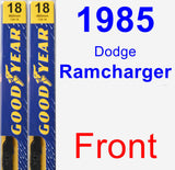 Front Wiper Blade Pack for 1985 Dodge Ramcharger - Premium