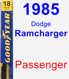 Passenger Wiper Blade for 1985 Dodge Ramcharger - Premium