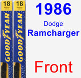 Front Wiper Blade Pack for 1986 Dodge Ramcharger - Premium