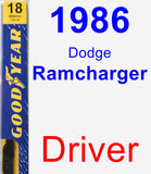 Driver Wiper Blade for 1986 Dodge Ramcharger - Premium