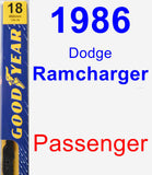 Passenger Wiper Blade for 1986 Dodge Ramcharger - Premium