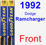 Front Wiper Blade Pack for 1992 Dodge Ramcharger - Premium