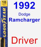 Driver Wiper Blade for 1992 Dodge Ramcharger - Premium
