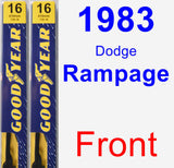 Front Wiper Blade Pack for 1983 Dodge Rampage - Premium