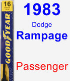 Passenger Wiper Blade for 1983 Dodge Rampage - Premium