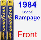 Front Wiper Blade Pack for 1984 Dodge Rampage - Premium