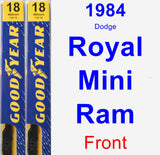 Front Wiper Blade Pack for 1984 Dodge Royal Mini Ram - Premium