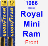 Front Wiper Blade Pack for 1986 Dodge Royal Mini Ram - Premium