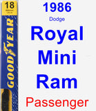 Passenger Wiper Blade for 1986 Dodge Royal Mini Ram - Premium