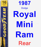 Rear Wiper Blade for 1987 Dodge Royal Mini Ram - Premium