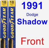 Front Wiper Blade Pack for 1991 Dodge Shadow - Premium