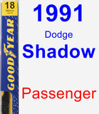 Passenger Wiper Blade for 1991 Dodge Shadow - Premium