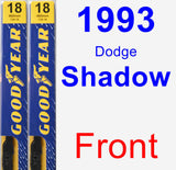 Front Wiper Blade Pack for 1993 Dodge Shadow - Premium