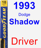 Driver Wiper Blade for 1993 Dodge Shadow - Premium