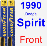 Front Wiper Blade Pack for 1990 Dodge Spirit - Premium