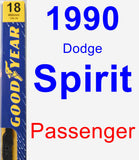 Passenger Wiper Blade for 1990 Dodge Spirit - Premium