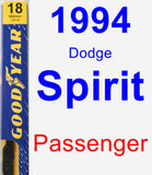 Passenger Wiper Blade for 1994 Dodge Spirit - Premium