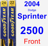 Front Wiper Blade Pack for 2004 Dodge Sprinter 2500 - Premium