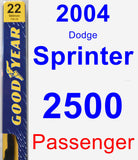Passenger Wiper Blade for 2004 Dodge Sprinter 2500 - Premium