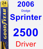 Driver Wiper Blade for 2006 Dodge Sprinter 2500 - Premium
