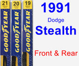Front & Rear Wiper Blade Pack for 1991 Dodge Stealth - Premium