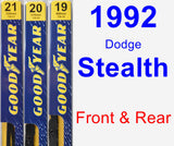 Front & Rear Wiper Blade Pack for 1992 Dodge Stealth - Premium