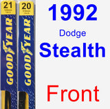 Front Wiper Blade Pack for 1992 Dodge Stealth - Premium