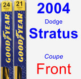 Front Wiper Blade Pack for 2004 Dodge Stratus - Premium